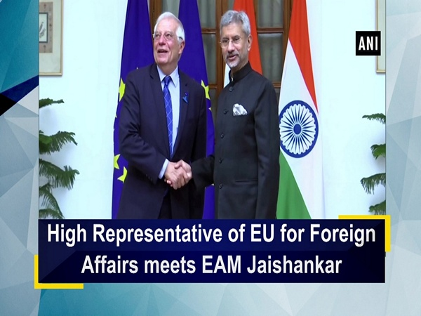 High Representative of EU for Foreign Affairs meets EAM Jaishankar