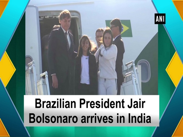 Brazilian President Jair Bolsonaro arrives in India