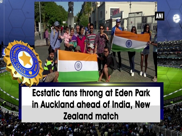 Ecstatic fans throng at Eden Park in Auckland ahead of India, New Zealand match