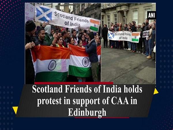 Scotland Friends of India holds protest in support of CAA in Edinburgh