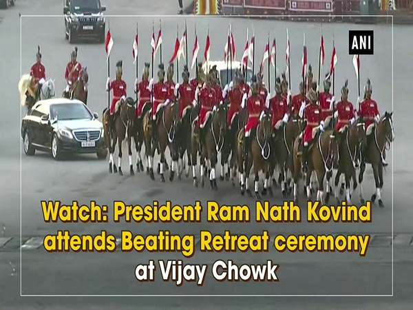 Watch: President Ram Nath Kovind attends Beating Retreat ceremony at Vijay Chowk