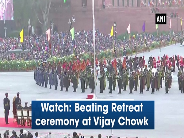 Watch: Beating Retreat ceremony at Vijay Chowk