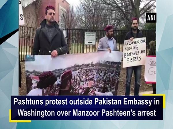 Pashtuns protest outside Pakistan Embassy in Washington over Manzoor Pashteen's arrest