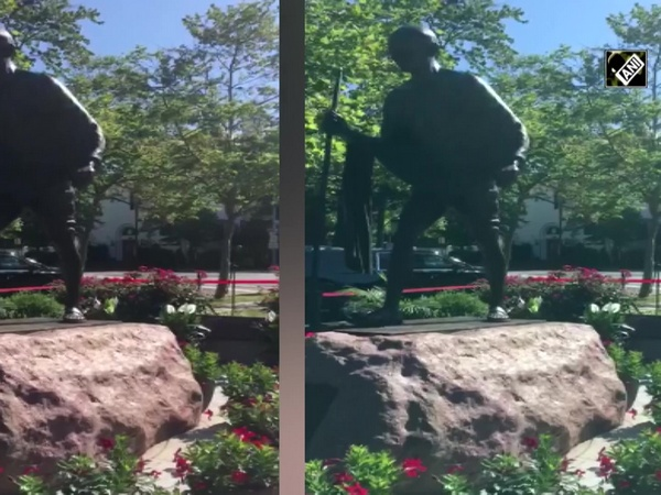 Mahatma Gandhi's statue in US inaugurated again after being vandalised during protest
