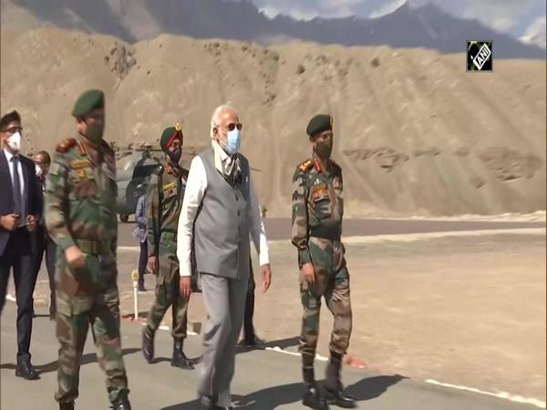 PM Modi makes surprise visit to Ladakh amid border tension with China
