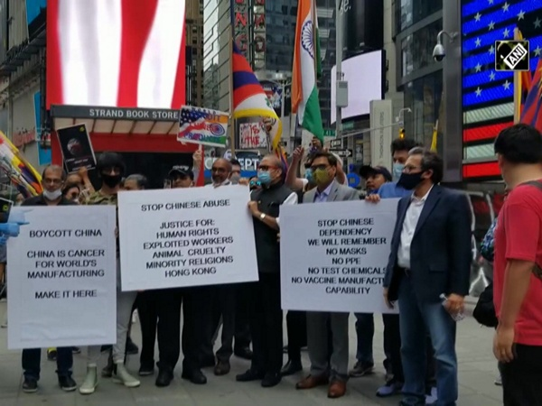'Boycott China': Indian Americans, Taiwanese Americans, Tibetans take to Times Square to denounce China