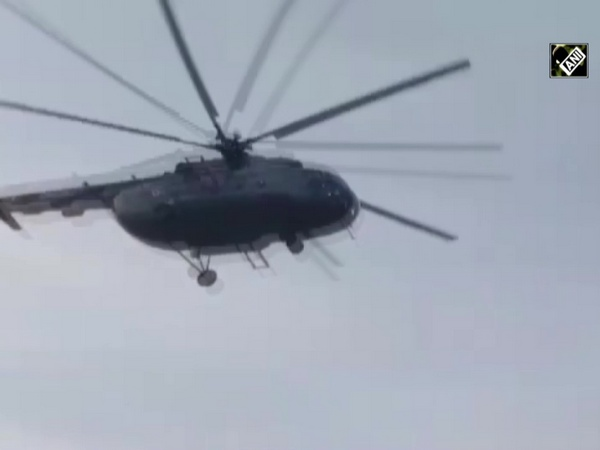 Helicopter sprays pesticide in Jodhpur as locust control operation