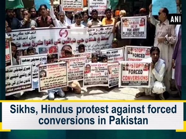 Sikhs, Hindus protest against forced conversions in Pakistan