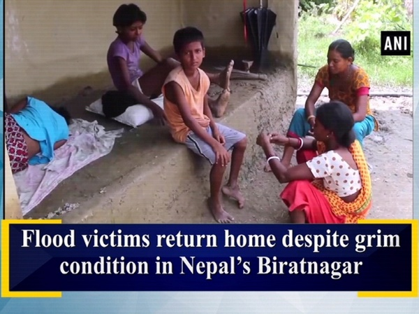 Flood victims return home despite grim condition in Nepal's Biratnagar