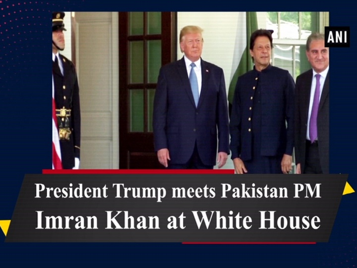 President Trump meets Pakistan PM Imran Khan at White House