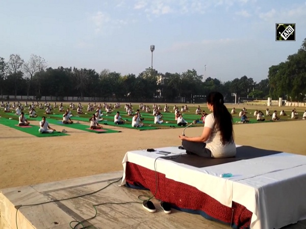 Unlock 1.0: Yoga camp organised for cops as stress buster in Moradabad