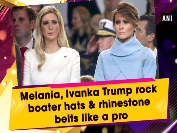 Melania, Ivanka Trump rock boater hats & rhinestone belts like a pro
