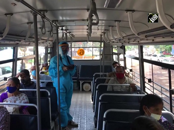 Mangaluru bus conductor wears PPE kit to protect himself from COVID-19