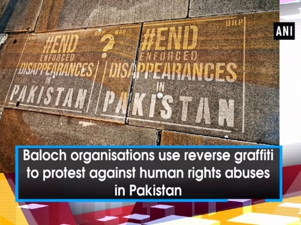 Baloch organisations use reverse graffiti to protest against human rights abuses in Pakistan