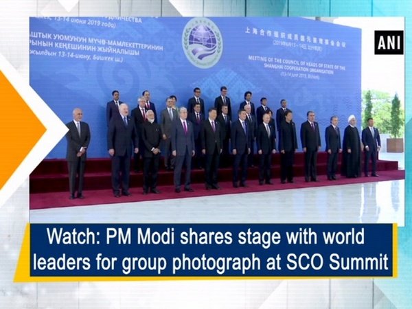 Watch: PM Modi shares stage with world leaders for group photograph at SCO Summit