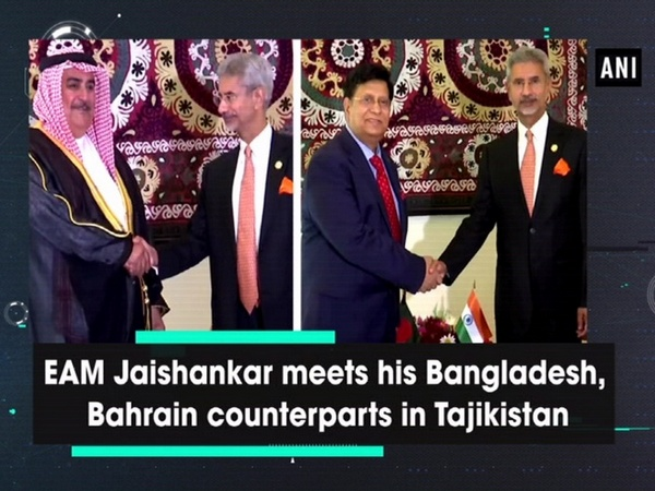 EAM Jaishankar meets his Bangladesh, Bahrain counterparts in Tajikistan