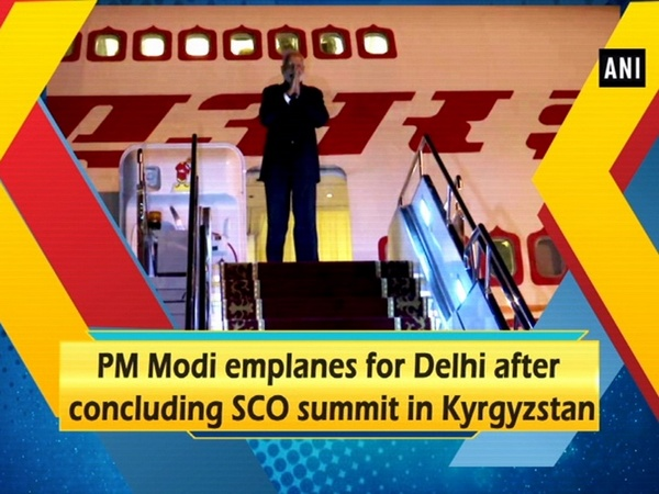 PM Modi emplanes for Delhi after concluding SCO summit in Kyrgyzstan