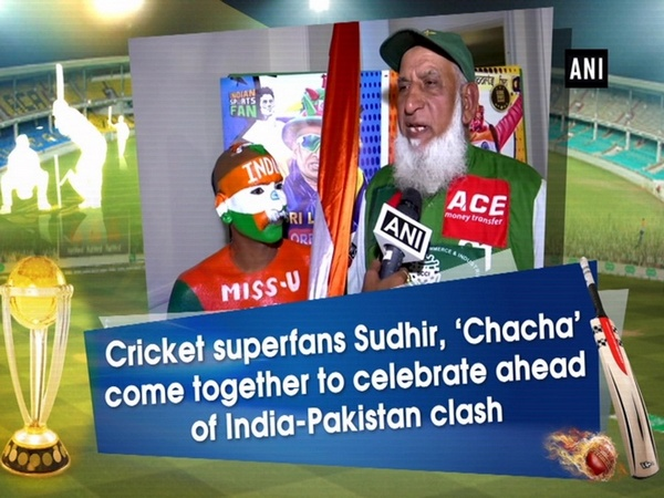 Cricket superfans Sudhir, 'Chacha' come together to celebrate ahead of India-Pakistan clash
