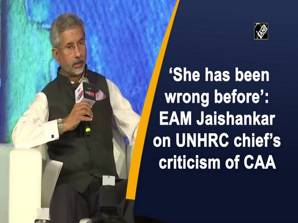 'She has been wrong before': EAM Jaishankar on UNHRC chief's criticism of CAA
