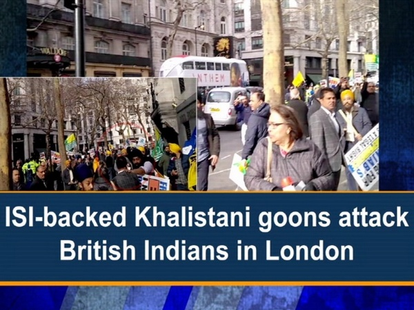 ISI-backed Khalistani goons attack British Indians in London
