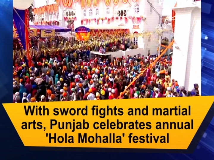 With sword fights and martial arts, Punjab celebrates annual 'Hola Mohalla' festival