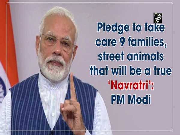 Pledge to take care 9 families, street animals it will be true 'Navratri': PM Modi