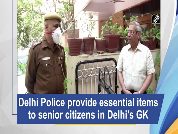 Delhi Police provide essential items to senior citizens in Delhi's GK