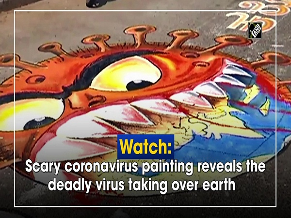 Watch: Scary coronavirus painting reveals the deadly virus taking over earth