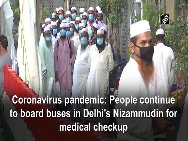 Coronavirus pandemic: People continue to board buses in Delhi's Nizammudin for medical checkup
