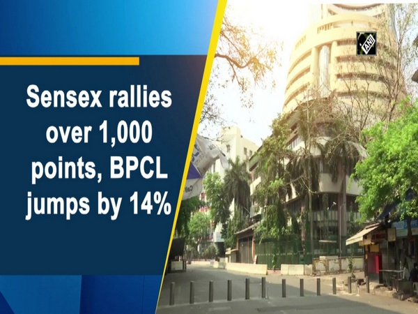 Sensex rallies over 1,000 points, BPCL jumps by 14%