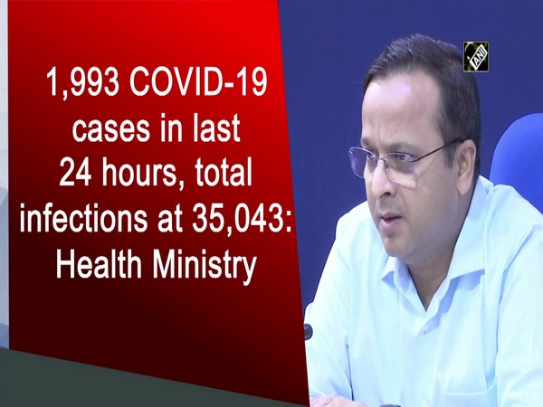 1,993 COVID-19 cases in last 24 hours, total infections at 35,043: Health Ministry