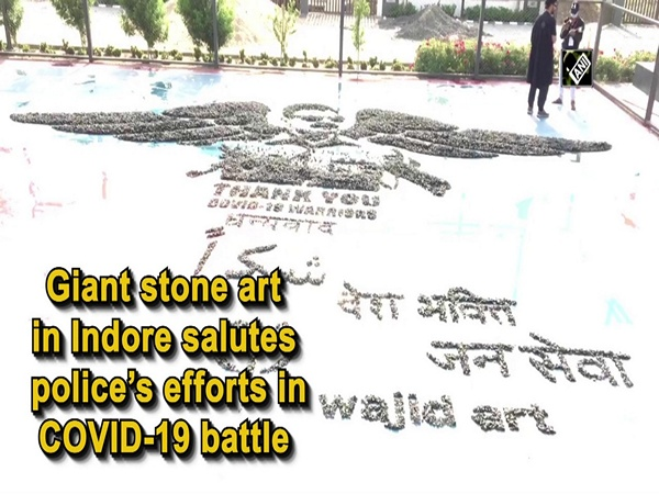 Giant stone art in Indore salutes police's efforts in COVID-19 battle