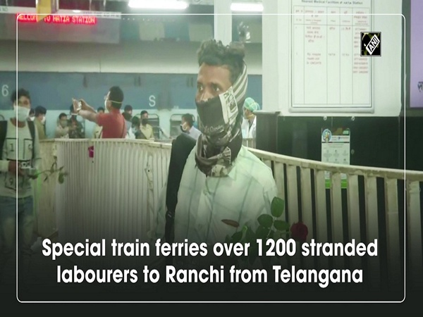 Special train ferries over 1200 stranded labourers to Ranchi from Telangana