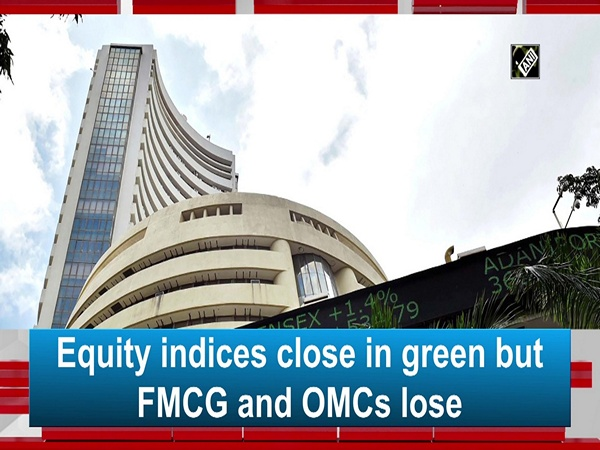 Equity indices close in green but FMCG and OMCs lose