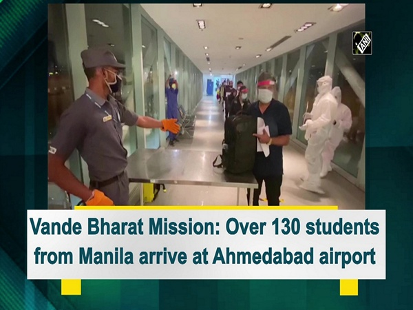 Vande Bharat Mission: Over 130 students from Manila arrive at Ahmedabad airport
