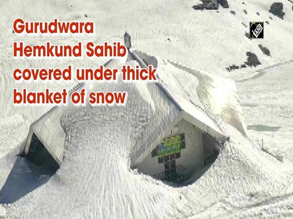 Gurudwara Hemkund Sahib covered under thick blanket of snow