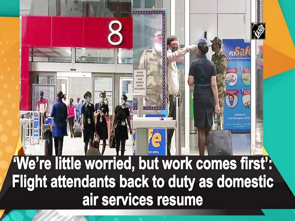 'We're little worried, but work comes first': Flight attendants back to duty as domestic air services resume