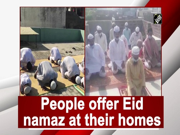 People offer Eid namaz at their homes