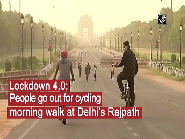Lockdown 4.0: People go out for cycling, morning walk at Delhi's Rajpath