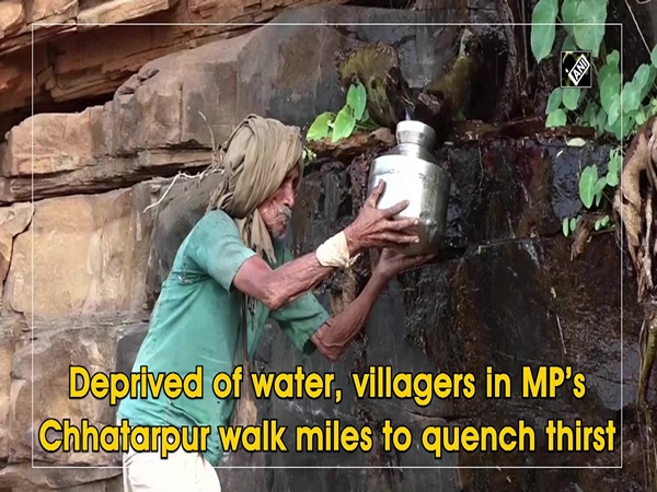Deprived of water, villagers in MP's Chhatarpur walk miles to quench thirst