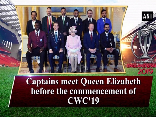 Captains meet Queen Elizabeth before the commencement of CWC'19