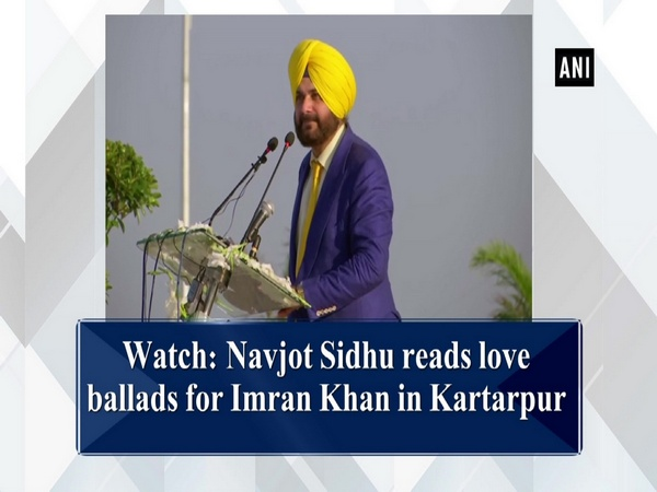 Watch: Navjot Sidhu reads love ballads for Imran Khan in Kartarpur