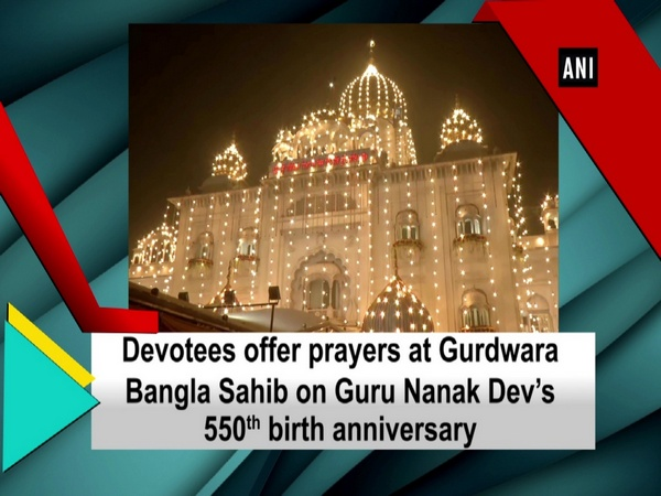 Devotees offer prayers at Gurdwara Bangla Sahib on Guru Nanak Dev's 550th birth anniversary