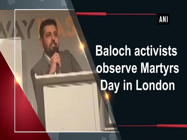 Baloch activists observe Martyrs Day in London