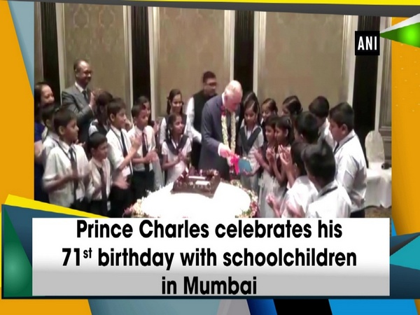 Prince Charles celebrates his 71st birthday with schoolchildren in Mumbai