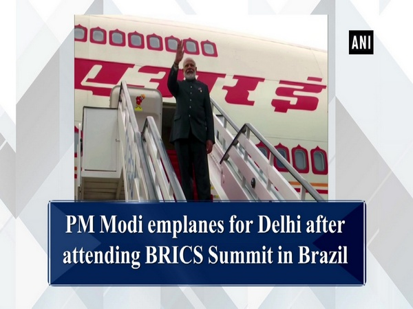 PM Modi emplanes for Delhi after attending BRICS Summit in Brazil