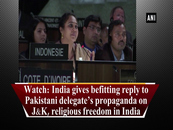 Watch: India gives befitting reply to Pakistani delegate's propaganda on J&K, religious freedom in India