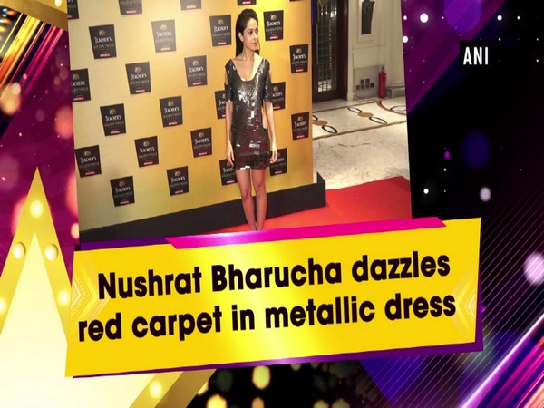 Nushrat Bharucha dazzles red carpet in metallic dress