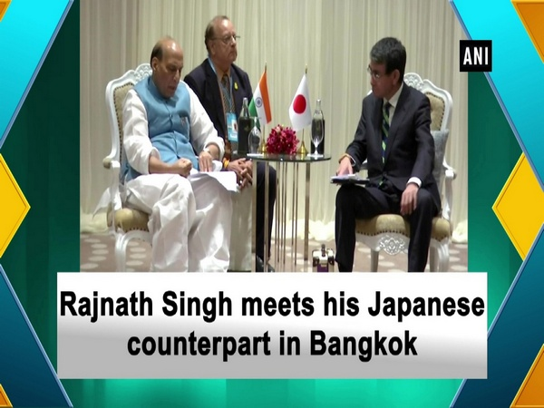 Rajnath Singh meets his Japanese counterpart in Bangkok
