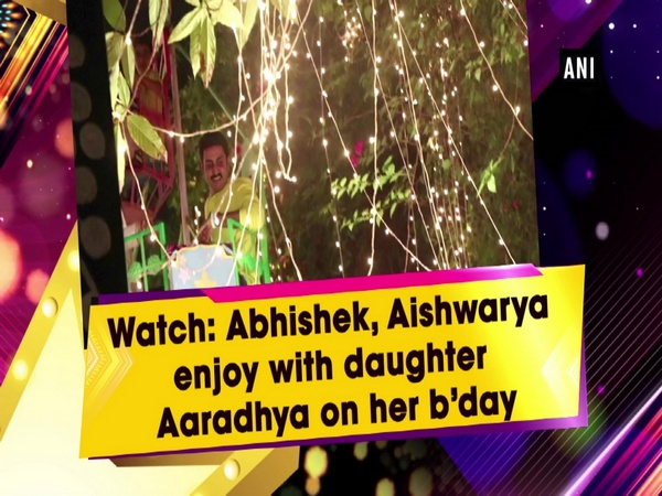 Watch: Abhishek, Aishwarya enjoy with daughter Aaradhya on her b'day